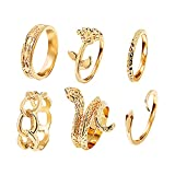 BFDD Women's Sparkling Ring Compact Light Index Ring Thin Chains Rings Edle Verlobungsringe, Freundschaftsringe Partnerringe