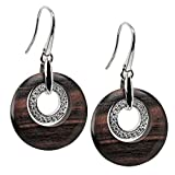 VIVENTY Damen-Ohrhänger Haken aus Silber 925 mit Holz und Zirkonia