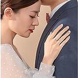 fohatu Moissanite Ring S925 Sterling Silber Elegante Öffnung Verstellbar EIN Karat Diamantring Stapelband Für Frauen Schmuckgeschenk,Silber