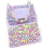 Showlovein Perlen zum Auffädeln Kinder DIY Armbänder Selber Machen Schmuck Schnurset Buchstaben Perlenschmuck Geburtstagsgeschenk für Mädchen