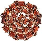 ELEDORO Blüten Damen Ring Granat für Frauen Sterling Silber 925 rotgold vergoldet Gr. 57